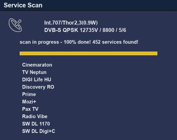 Dreambox One service scan