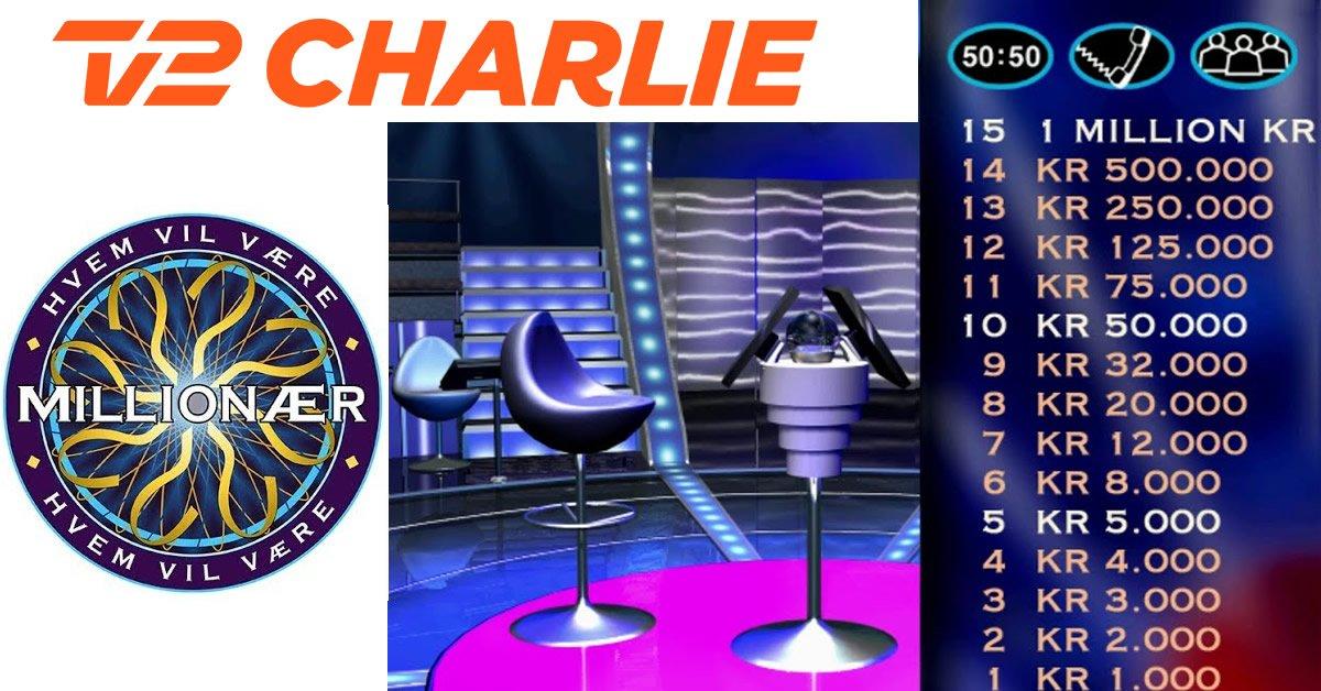 Hvem vil være Milionær TV 2 Charlie