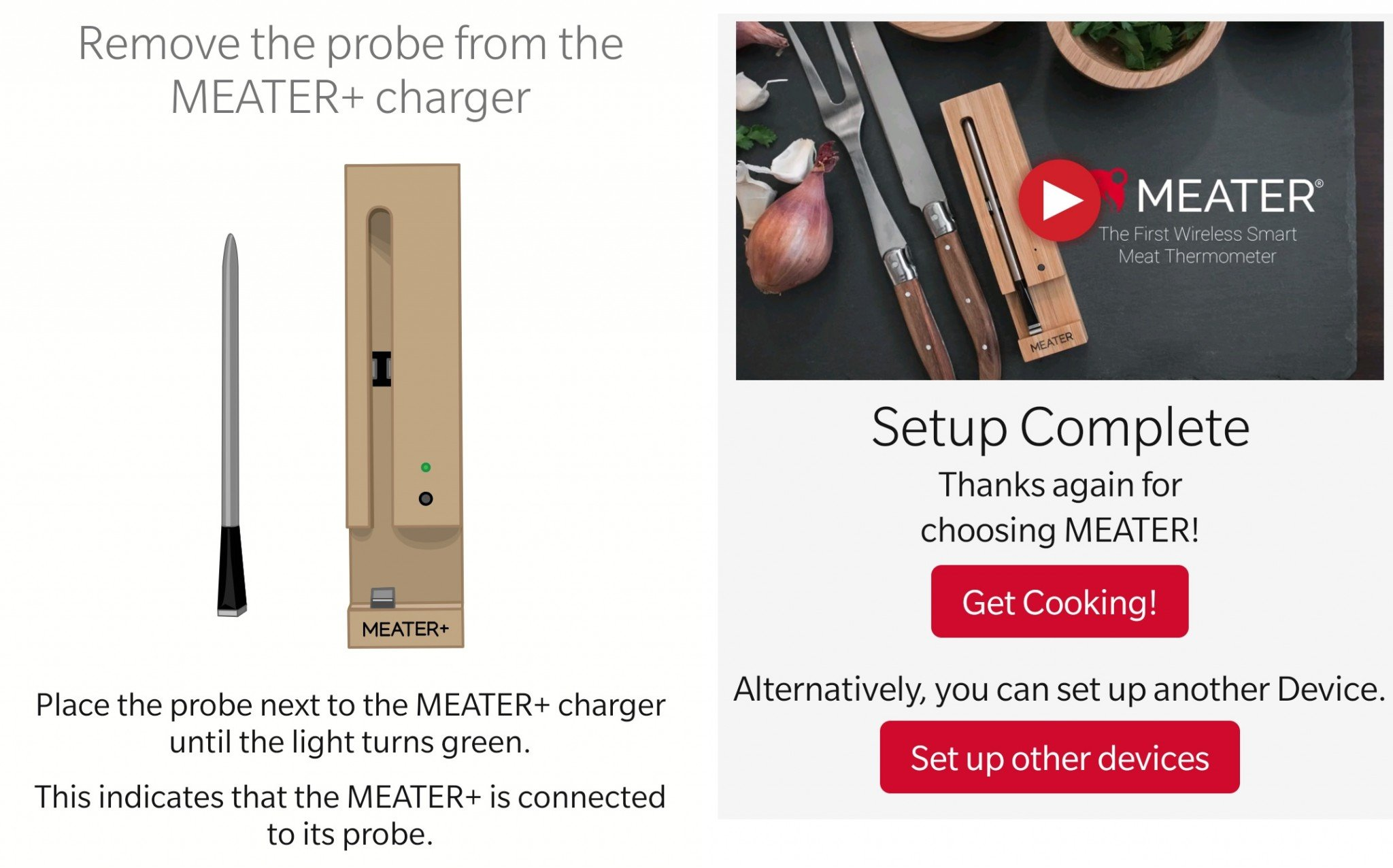 Meater setup Screenshot app