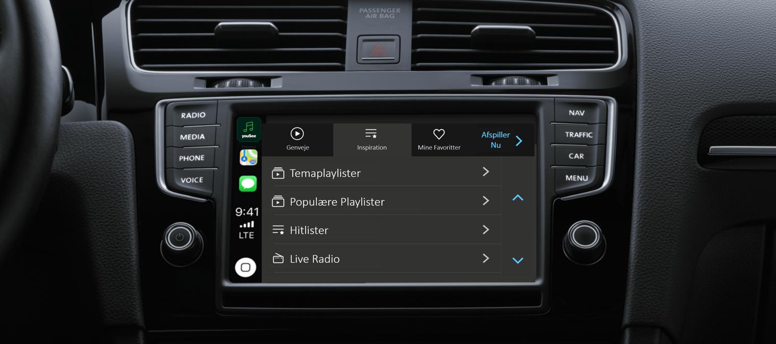 YouSee Musik klar til Apple CarPlay