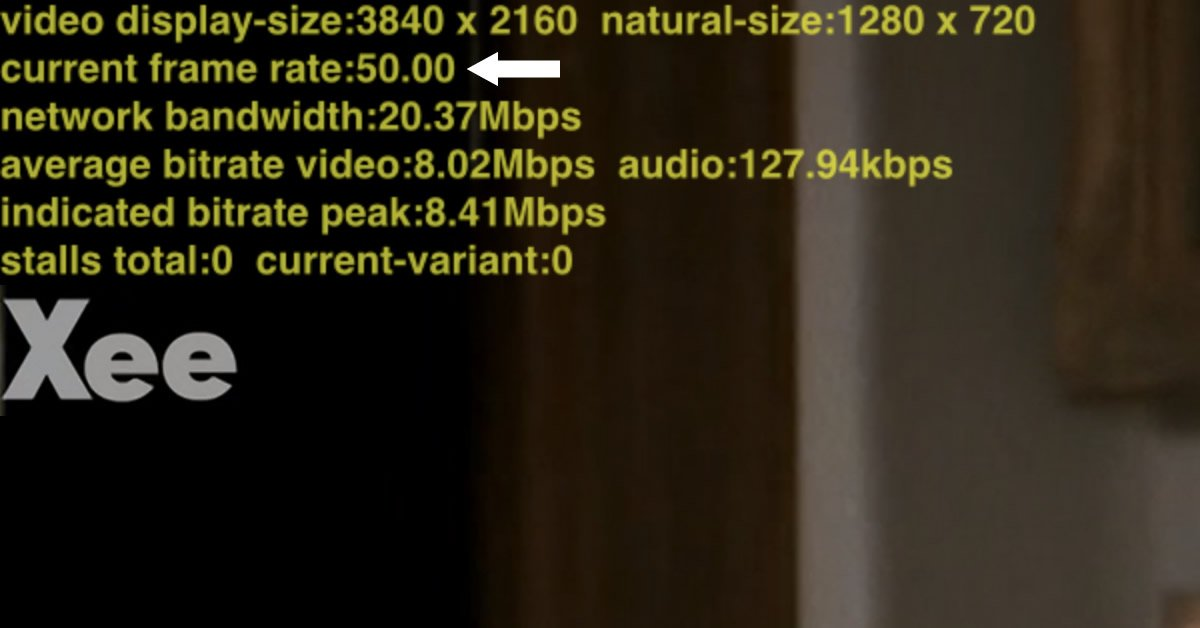 YouSee TV streaming bitrate fps