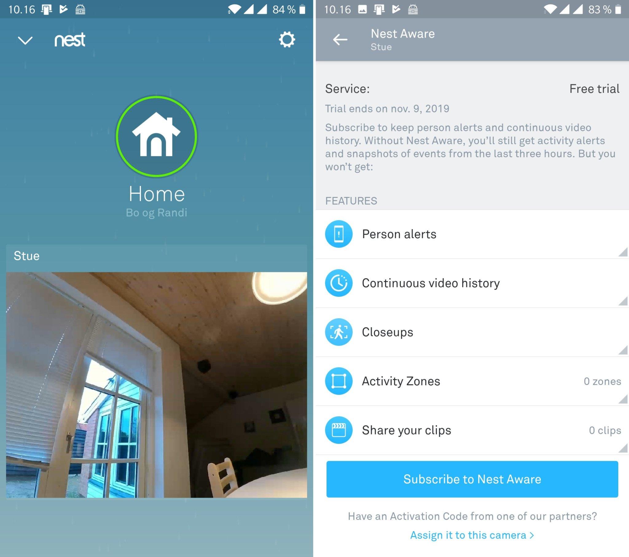Google Nest Hub Max Nest Aware
