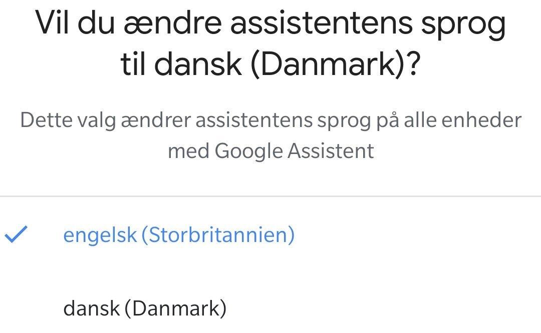 Google Nest Hub Max dansk sprog