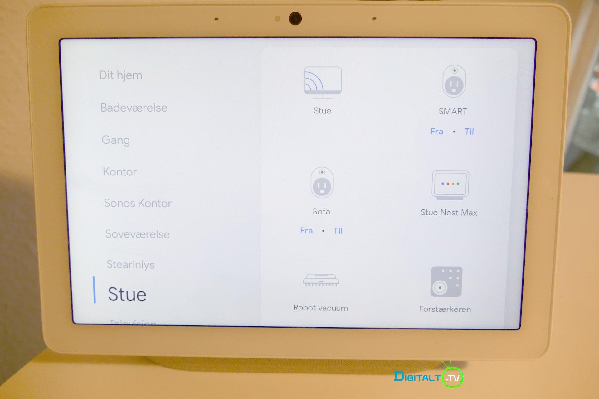 Google Nest Hub Max smart home betjening