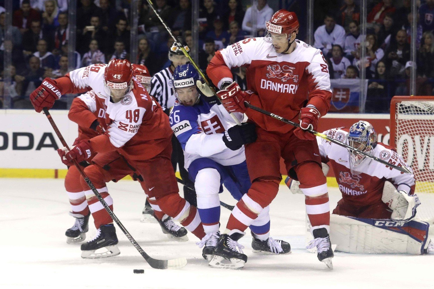 2019 IIHF Ice Hockey World Championship, day 12, Slovakia - Denmark