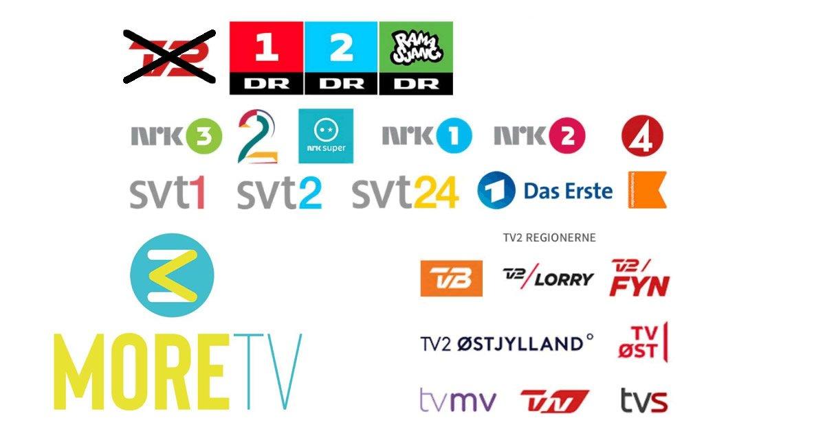 More TV mister TV 2 DR kanaler 2020