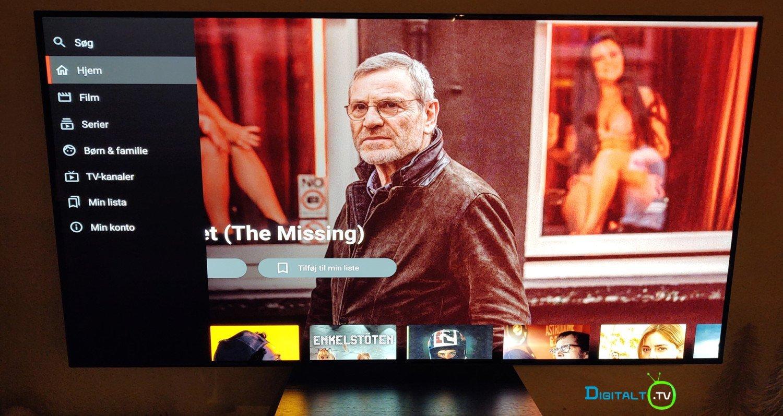 C More Android TV app menu