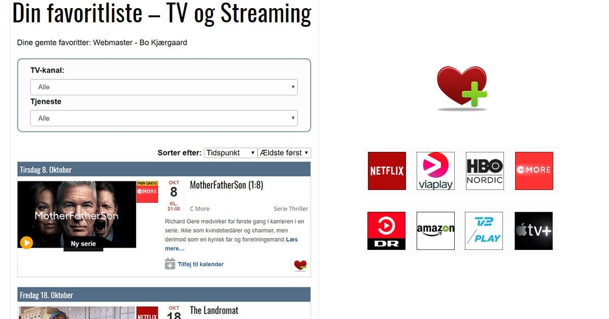 Favoritliste DIGITALT.TV