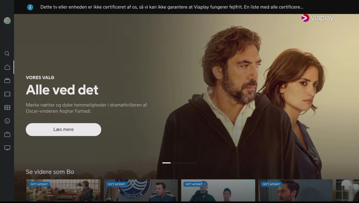 Viaplay Android TV ikke certificeret