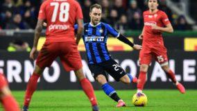 Foto af Lokal derby tid i Serie A – Christian Eriksen i sin første kamp om Milano