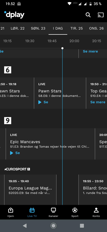 Dplay TV-Guide App