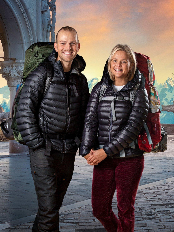 Først til verdens ende TV 2 Kæresterne Nicolaj og Stephanie.