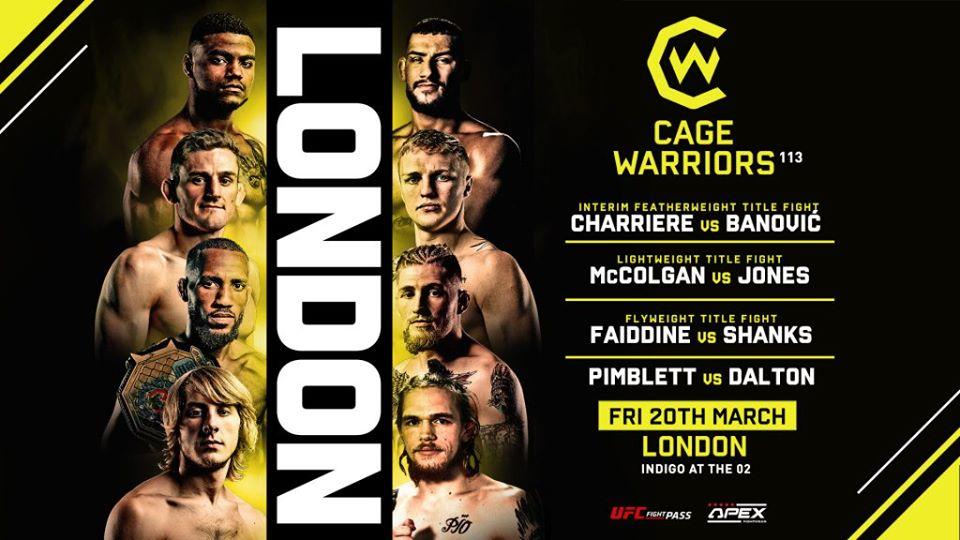 Cage Warriors UFC 20 marts 2020