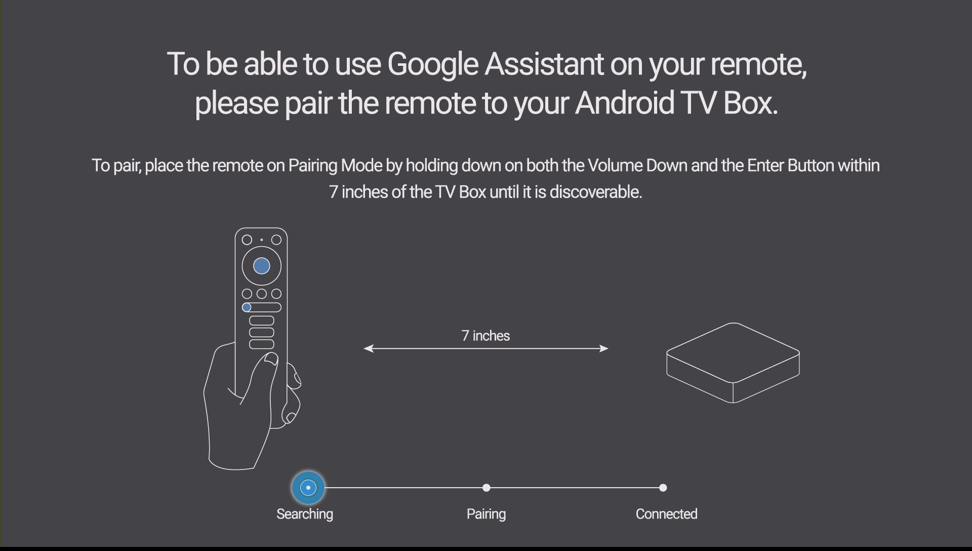 Android TV Ematic Pairring remote