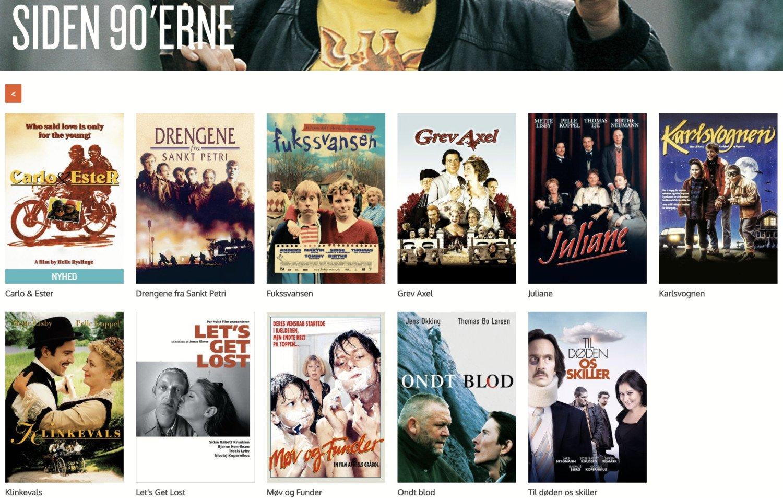 siden 90erne dansk filmskat