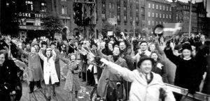 Foto af 75-året for befrielsen på TV 2