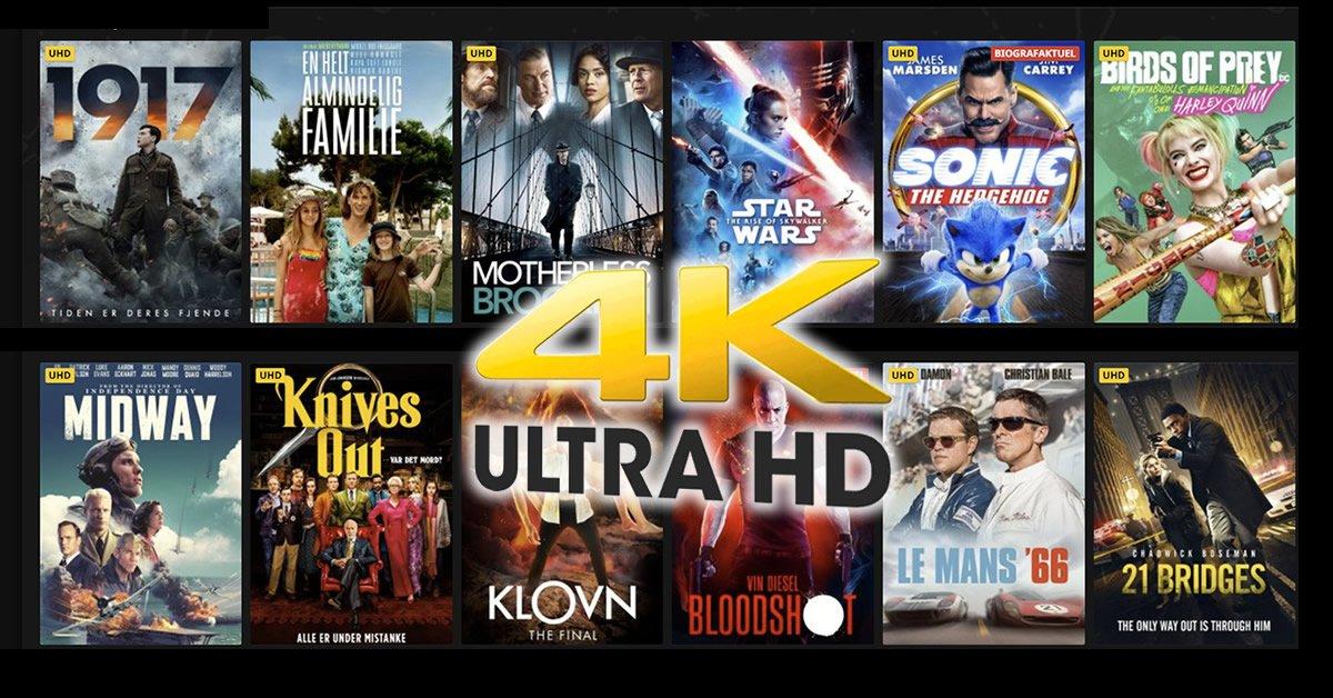 Filmleje 4K ultra HD priser tjenester