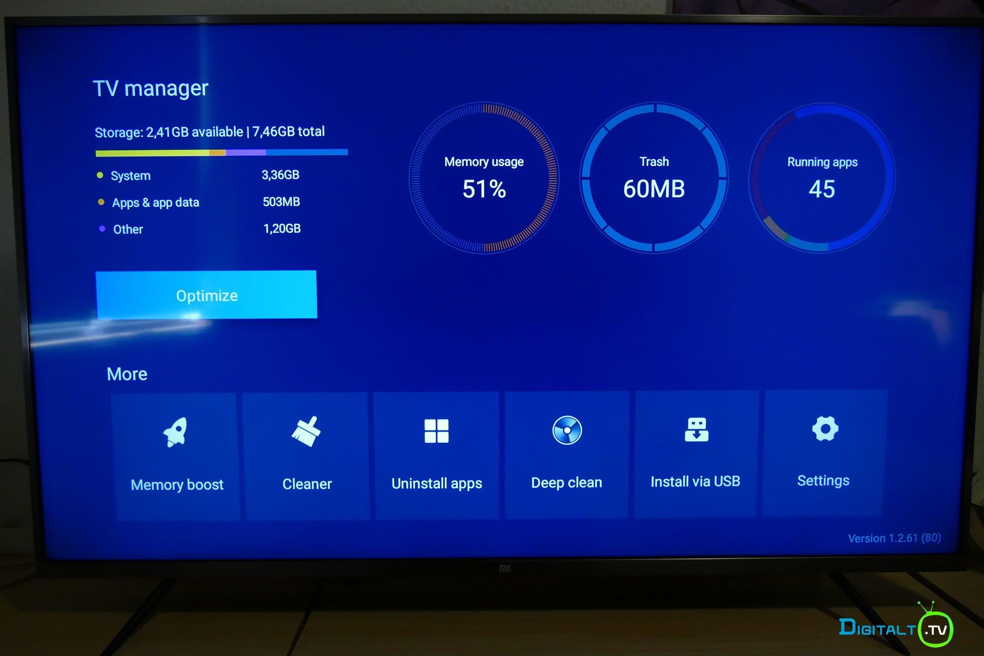 Xiaomi Mi LED TV 4S Manager