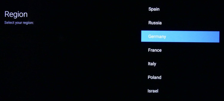 Xiaomi Mi LED TV 4S regionvalg
