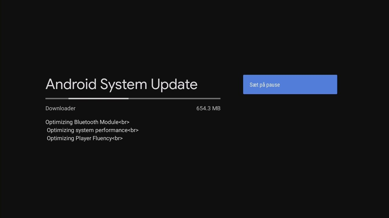Android TV System Update