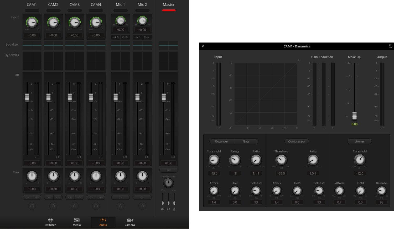 Atem Mini control pc software lyd muligheder
