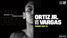 Foto af DAZN betatester Global lancering med Ortiz Jr. v Vargas boksekamp