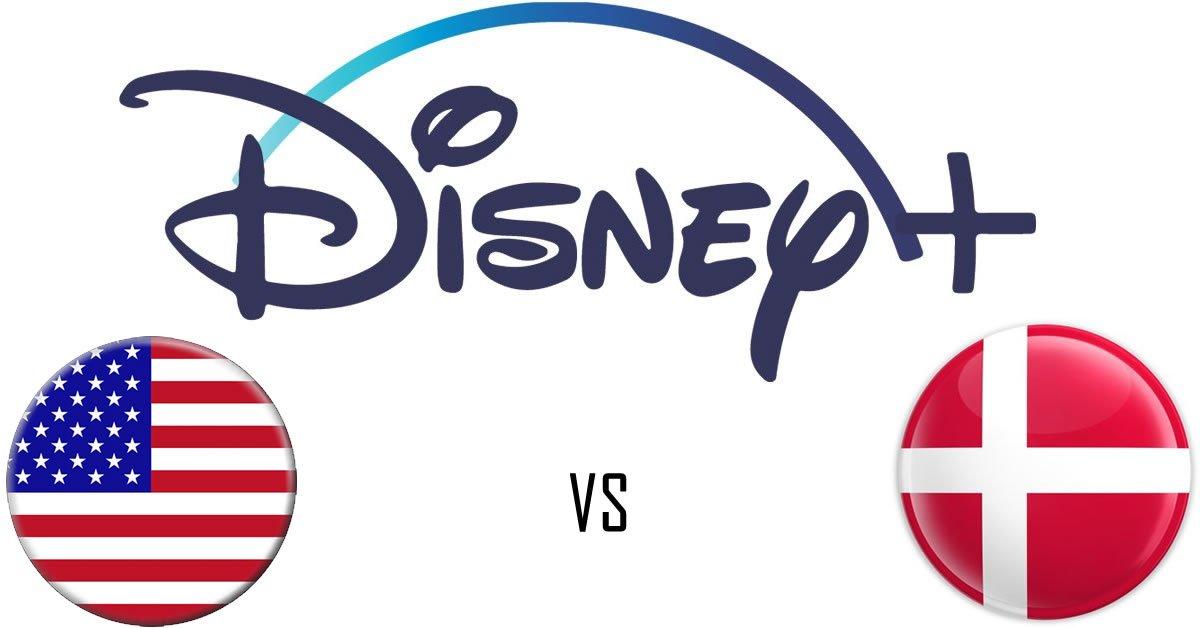Disneyplus forskelle US DK