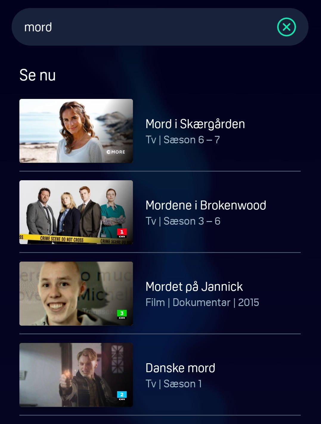 YouTV søg på tværs af indhold