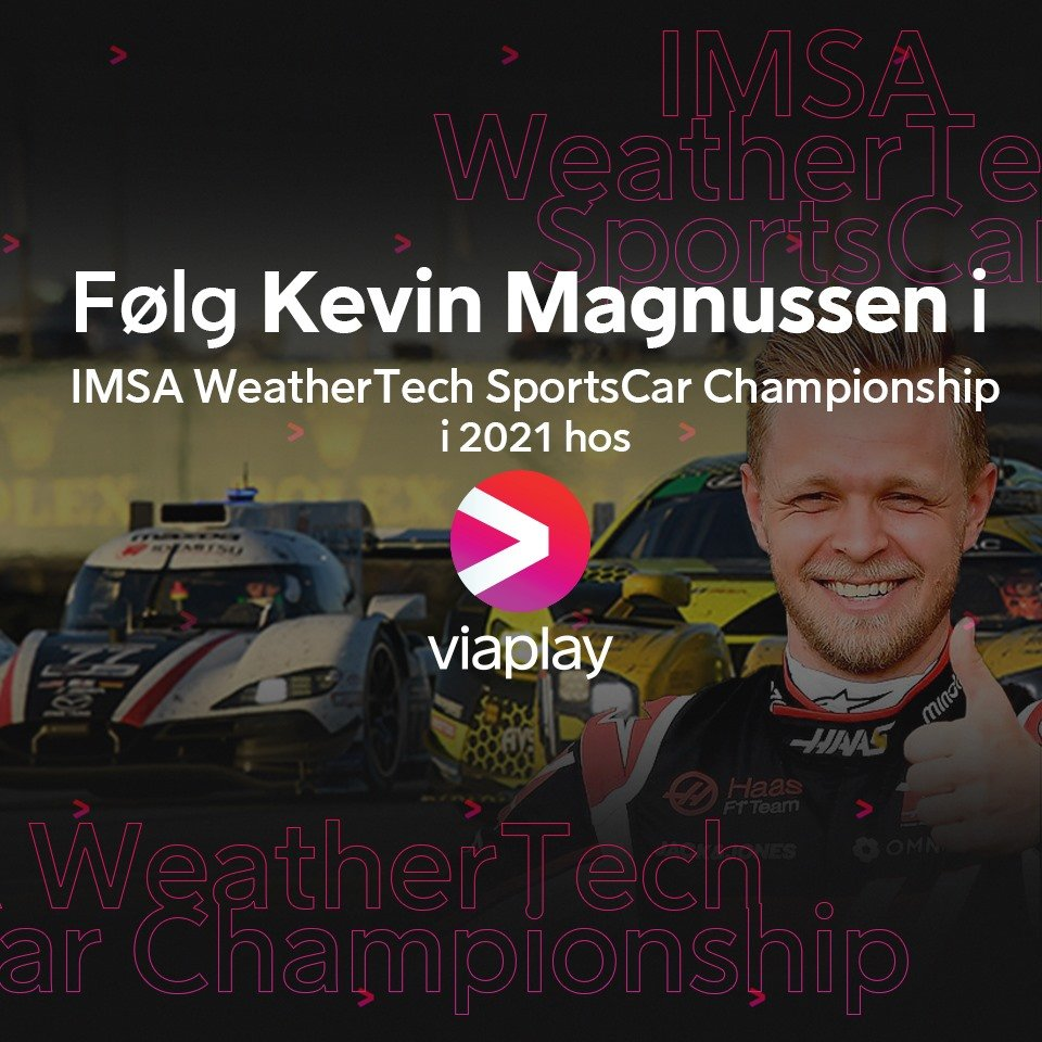 Kevin Magnussen IMSA serien dansk tv og streaming