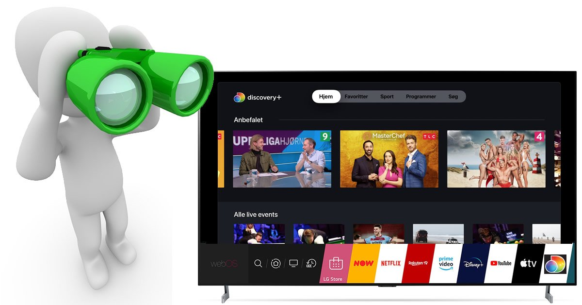 discovery+ app LG webos efterlysning