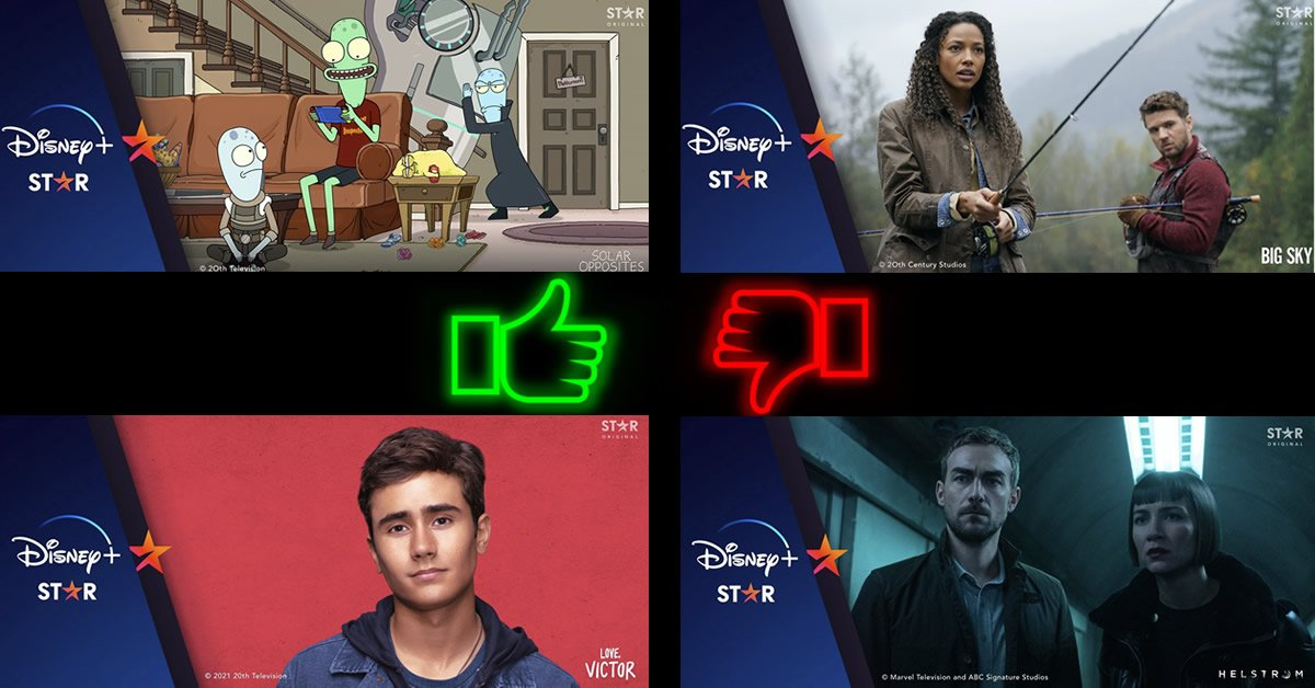 Disney+ star originalserier rating