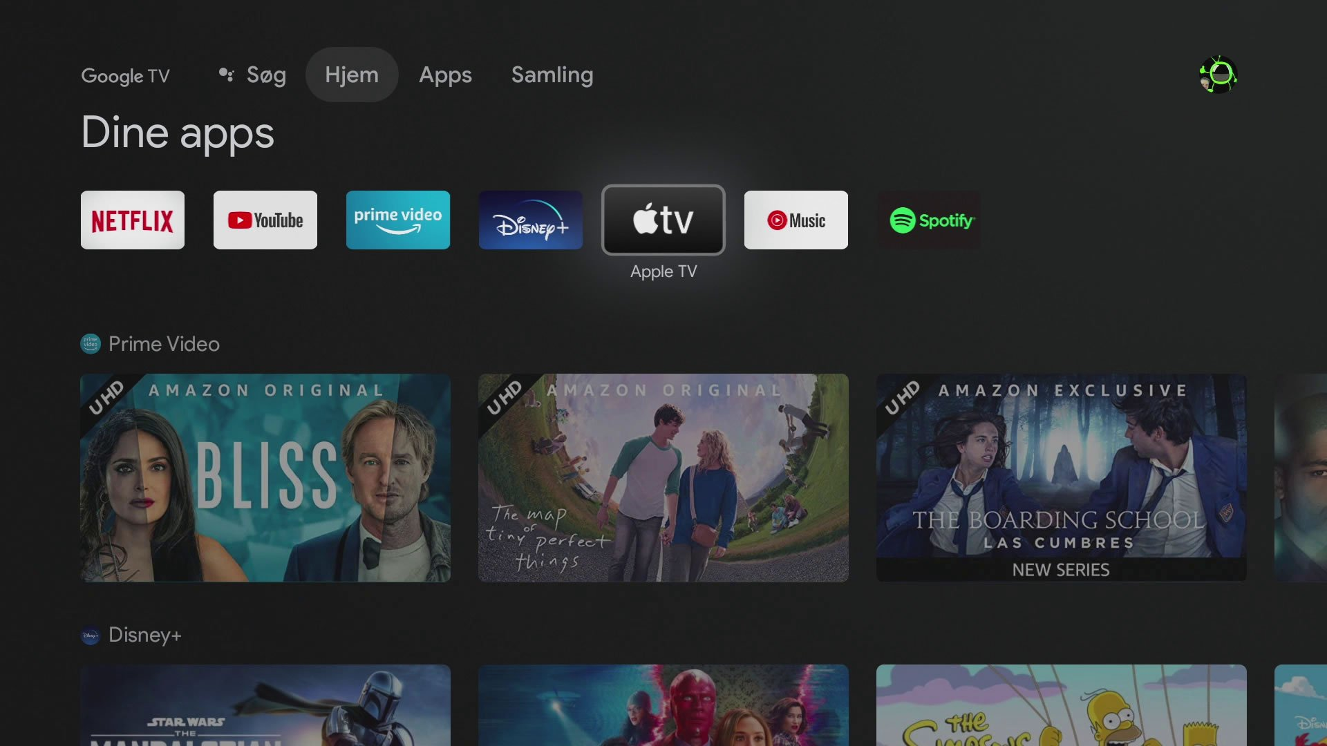 Apple TV Chromecast med Google TV