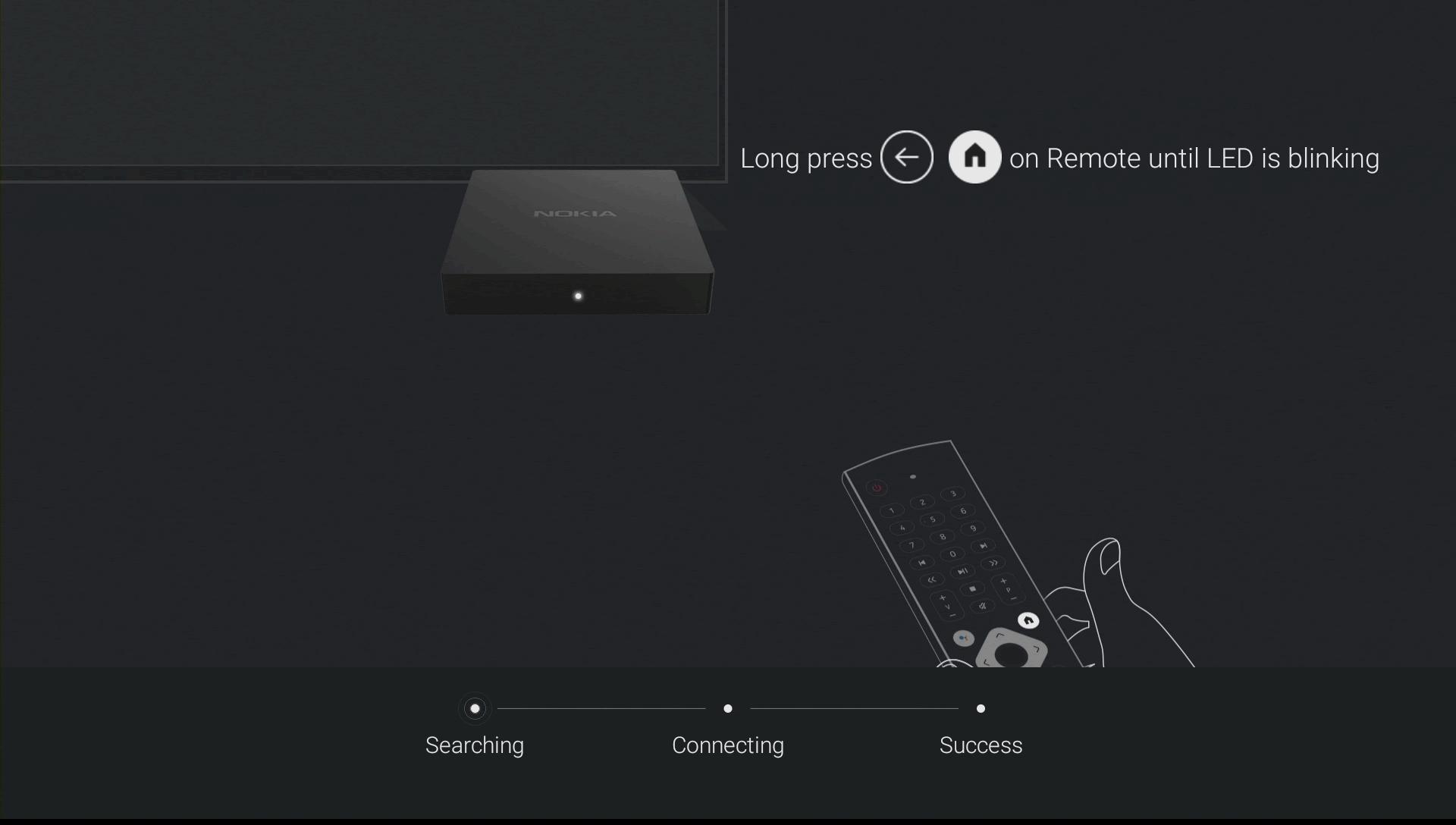 Nokia Streaming Box 8000 Fjernbetjening pairing