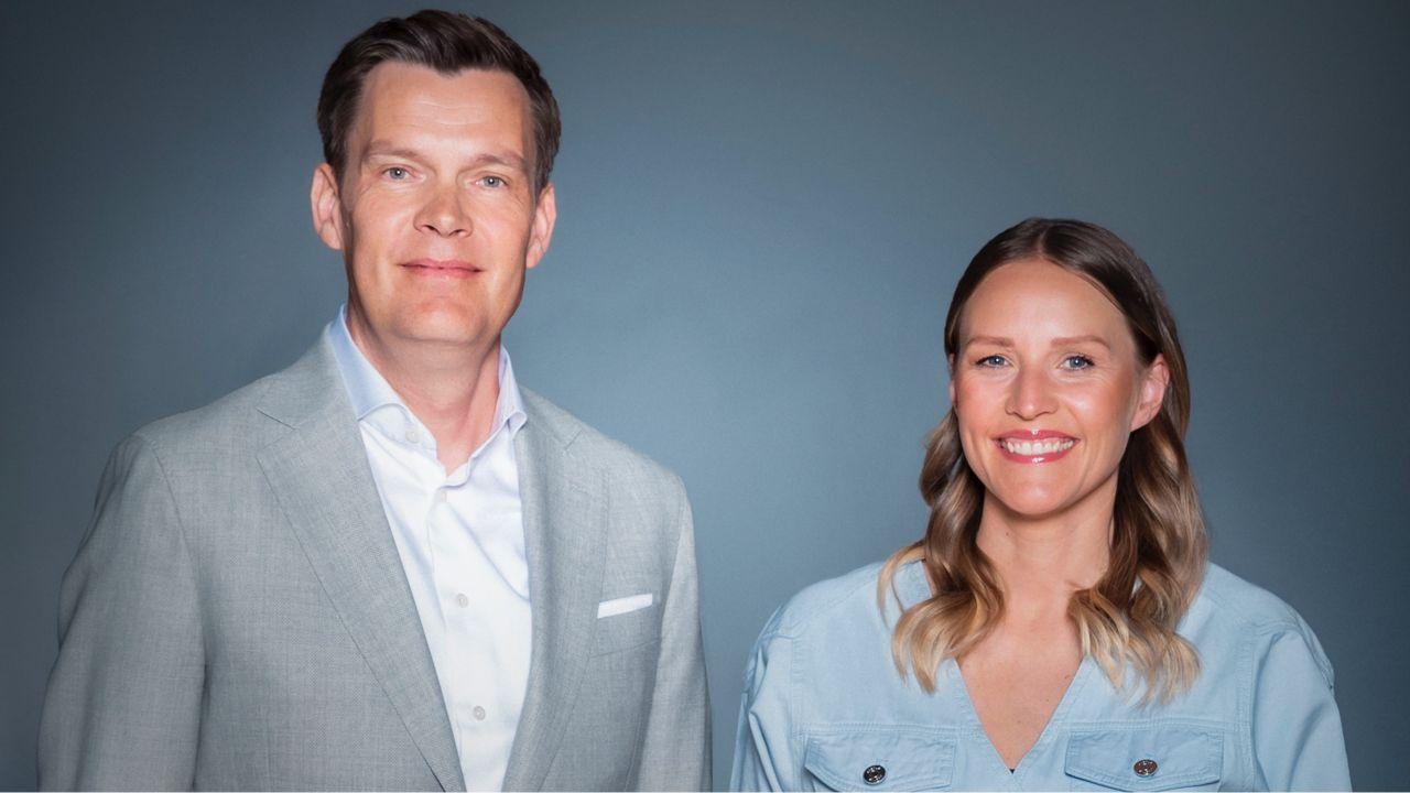 Signe Vadgaard og Peter Grønborg EM Værter TV3