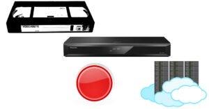 optag tv vhs harddisk skyen