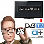 Boxer HDTV Ready fladskærme med DVB-T2 tuner