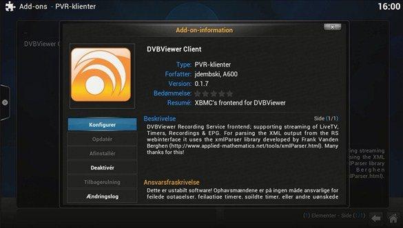 DVBViewer PVR Klient XBMC