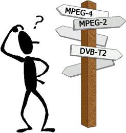 DVB-T, DVB-T2, MPEG-2, MPEG-4 forvirring