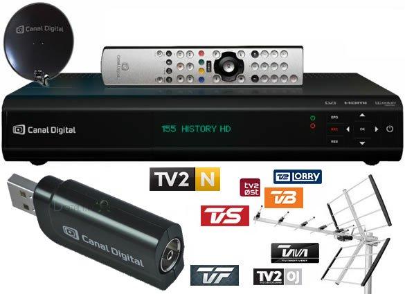 USB DVB-T tuner Canal Digital HD Entertain Center