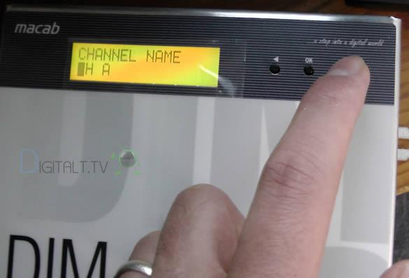 MACAB DIM-10 DIGITAL COFDM (DVB-T) MODULATOR kanalnavn
