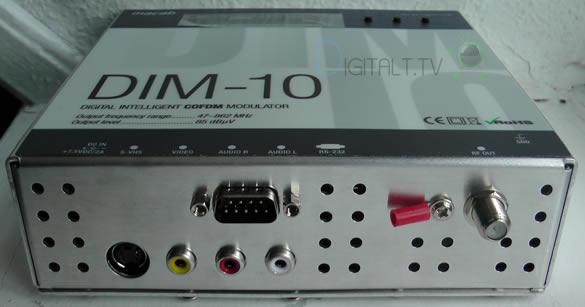 MACAB DIM-10 DIGITAL COFDM (DVB-T) MODULATOR tilslutninger