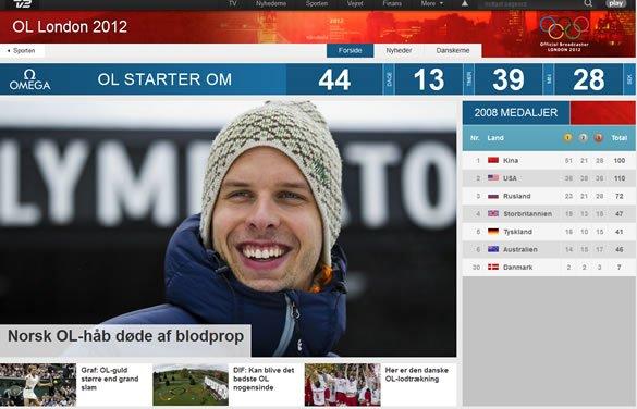TV 2s nye OL site