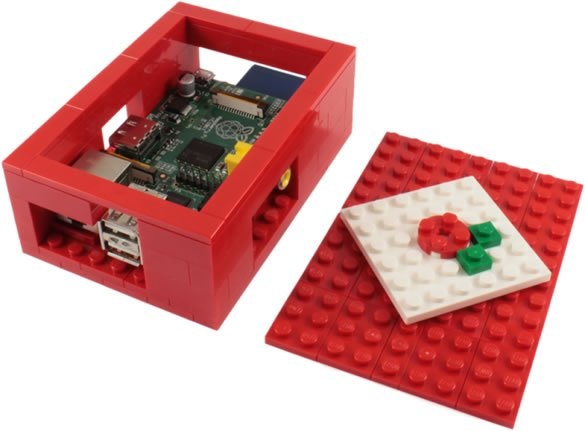 Raspberry Pi Lego kabinet