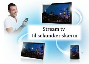 Twin Tuner Panasonic TV kan streame live tv eller optagelser