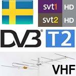 Foto af VHF og DVB-T2 – Mere digital antenne-tv fra Sverige