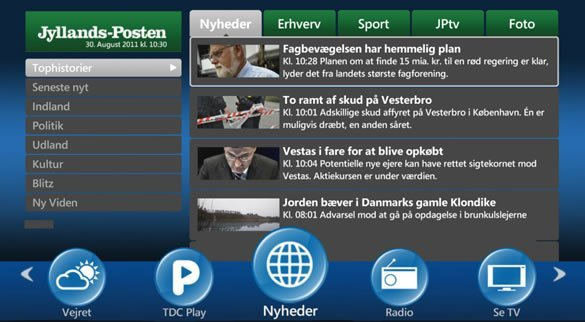 YDC TV App - Jyllands-Posten