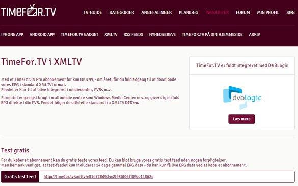 TimeForTV XMLTV EPG