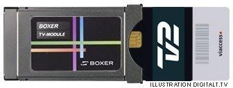 TV 2 kort i Boxer TV Modul