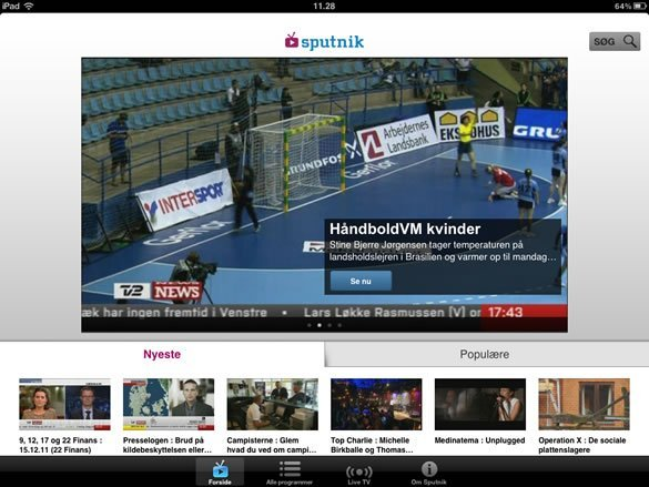 TV 2 Sputnik på iPad : DIGITALT.TV