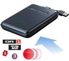 Der er plads til mange timers tv på en almindelig USB harddisk